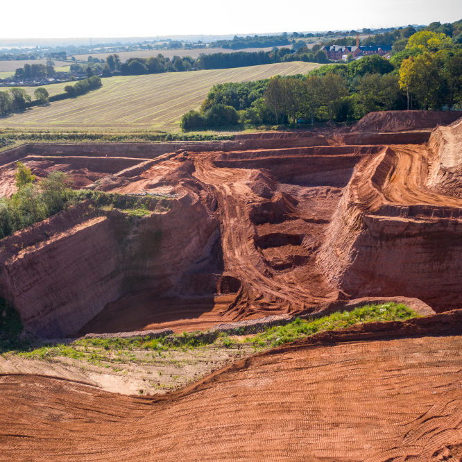 Mineral extraction in the West Midlands